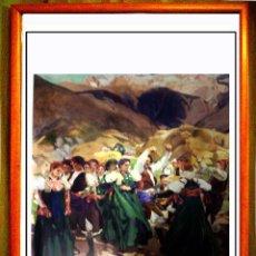 Arte: CARTEL DE OBRA DE - SOROLLA - LA JOTA . VERANO DE 1914 .DE COLECCION HISPANO SOCIETY OF AMERICA 58X. Lote 76554139
