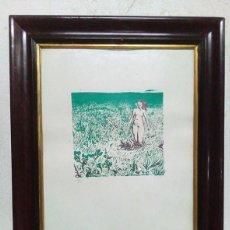 Arte: SERIGRAFIA ENMARCADA, FIRMADA Y NUMERADA A MANO.. Lote 76695155