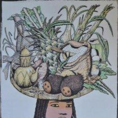 Arte: FERNANDO BELLVER. AFRICA, SERIGRAFÍA. Lote 49120869