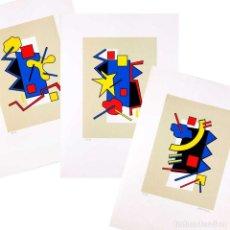 Arte: LOTE 3 SERIGRAFÍAS FIRMADAS. PRUEBAS DE AUTOR. FINALES AÑOS 80. Lote 82269732