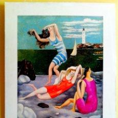 Arte: OBRA DE - PABLO PICASSO - LITOGRAFIA PEGADA SOBRE BASTIDOR Y TABLA 78 X 60 CMS. Lote 82353920