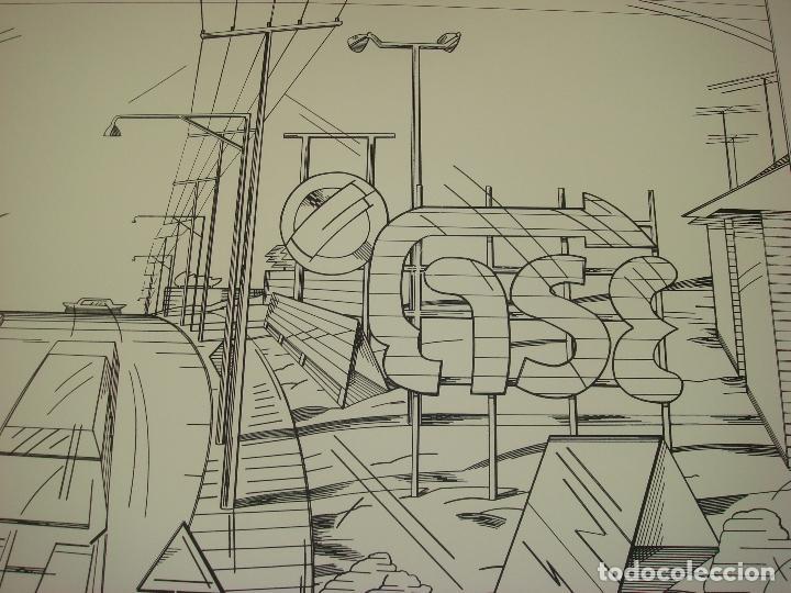 "Arte: NICOLAS GLESS (AVILA 1950).SERIGRAFIA B/N ""AUTOPISTA ESSO"". NUMERADA Y FIRMADA. 1975. - Foto 2 - 82410520"