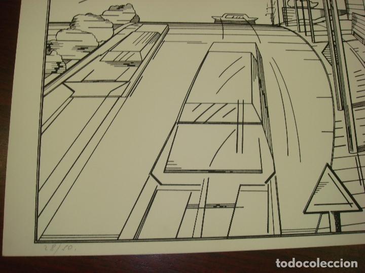 "Arte: NICOLAS GLESS (AVILA 1950).SERIGRAFIA B/N ""AUTOPISTA ESSO"". NUMERADA Y FIRMADA. 1975. - Foto 3 - 82410520"