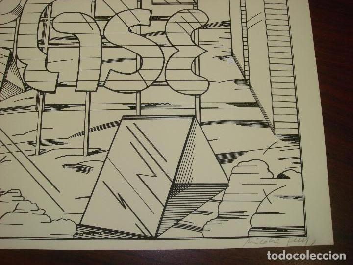 "Arte: NICOLAS GLESS (AVILA 1950).SERIGRAFIA B/N ""AUTOPISTA ESSO"". NUMERADA Y FIRMADA. 1975. - Foto 4 - 82410520"