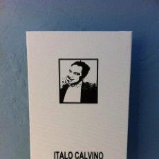 Arte: SERIGRAFÍA SOBRE LIENZO CON BASTIDOR (ITALO CALVINO). 55 X 38 X 1,6CM. ESCRITORES. Lote 84518312