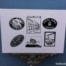 Arte: SERIGRAFÍA SOBRE LIENZO CON BASTIDOR (HOTELES ORENSE, VERÍN, BARCO DE VALDEORRAS). 55 X 38CM. Lote 84761916
