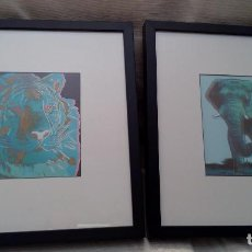 Arte: BONITO LOTE DE 2 SERIGRAFIAS DE ANDY WARHOL ELEFANTE Y TIGRE VARIANTE 03/06 EDICION MUY LIMITADA. Lote 85817880