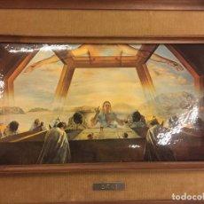 Arte: REPRODUCCIÓN DEL CUADRO LA CENA DE SALVADOR DALÍ, EN CARTONÉ ACABADO BRILLANTE, CANTOS ABOMBADOS . Lote 86350396