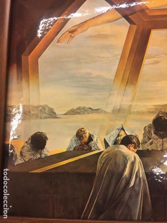 Arte: Reproducción del cuadro LA CENA de SALVADOR DALÍ, en cartoné acabado brillante, cantos abombados - Foto 2 - 86350396