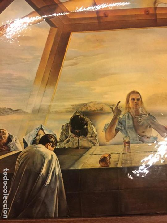 Arte: Reproducción del cuadro LA CENA de SALVADOR DALÍ, en cartoné acabado brillante, cantos abombados - Foto 3 - 86350396