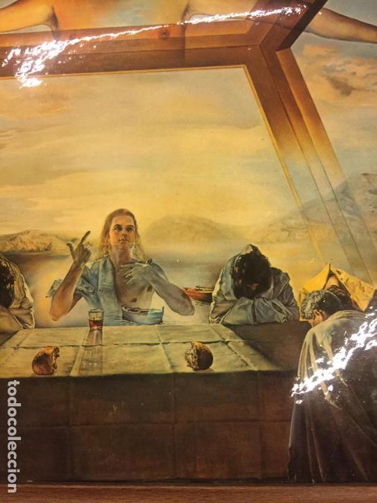 Arte: Reproducción del cuadro LA CENA de SALVADOR DALÍ, en cartoné acabado brillante, cantos abombados - Foto 4 - 86350396