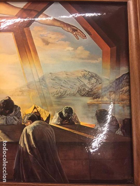 Arte: Reproducción del cuadro LA CENA de SALVADOR DALÍ, en cartoné acabado brillante, cantos abombados - Foto 5 - 86350396