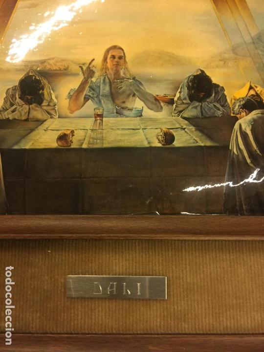 Arte: Reproducción del cuadro LA CENA de SALVADOR DALÍ, en cartoné acabado brillante, cantos abombados - Foto 6 - 86350396