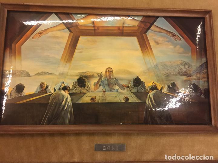 Arte: Reproducción del cuadro LA CENA de SALVADOR DALÍ, en cartoné acabado brillante, cantos abombados - Foto 7 - 86350396