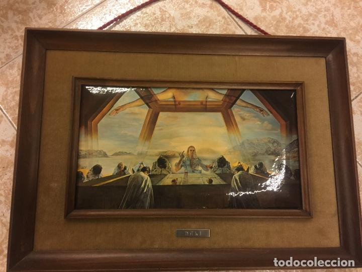 Arte: Reproducción del cuadro LA CENA de SALVADOR DALÍ, en cartoné acabado brillante, cantos abombados - Foto 9 - 86350396