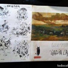 Arte: CARPETA COLECION DE 5 LAMINAS SERIGRAFIAS DE - GARCIA CAMPOS - LOS TOROS EDICION LIMITADA NUMERADA. Lote 89556224