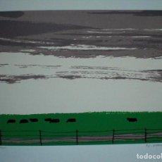 Arte: JOAQUÍN VAQUERO PALACIOS (OVIEDO 1900-MADRID 1998) VACAS SERIGRAFÍA 30X40 EN 47X60 VAQUERO82 Y 9/275. Lote 98207008