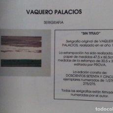Arte: VAQUERO PALACIOS. SIN TITULO. Lote 90542115
