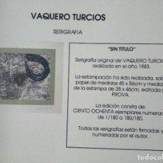 Arte: VAQUERO TURCIOS. SIN TITULO. Lote 90542400