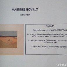 Arte: MARTINEZ NOVILLO.PAISAJE. Lote 90543630
