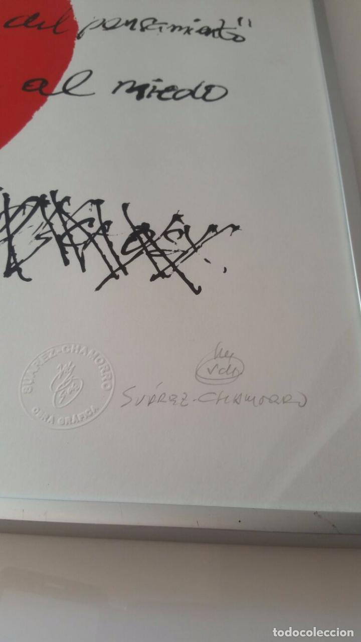 Arte: Suárez Chamorro - Escuela libre del pensamiento - Firmada sellada y numerada - Foto 2 - 91167585