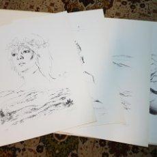 Arte: POLÍN LAPORTA (ALCOI,1920-ALICANTE 2004) 4 SERIGRAFIAS FIRMADAS Y NUMERADAS. 16/75. PRECIO:1000€. Lote 93381702