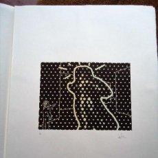 Arte: IMPRESIONANTE SERIGRAFÍA DE JORGE RUBIO BILBAO 1972 MIDE 56 X 75 CM.. Lote 93389005