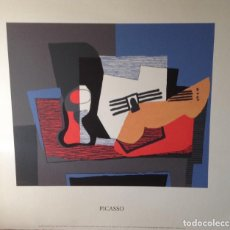 Arte: PABLO PICASSO SERIGRAFÍA NATURE MORTE A LA GUITARE 100 X 86 CMS. Lote 94528946