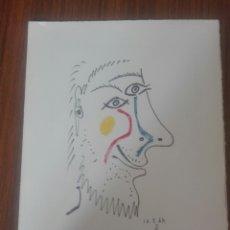 Arte: SERIGRAFÍA DE PICASSO EN COLOR CON CERTIFICADO DE AUTENTICIDAD. Lote 95396300