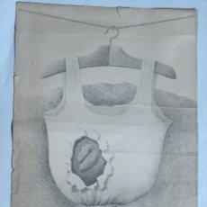 Arte: SERIGRAFIA FIRMADO CALDUCH 72 , 1/75, ROPA CAMISETA COLGADA , TENDIDA, NUDO . Lote 95840851