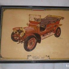 Arte: COCHE ANTIGUO SOBRE TABLA -SPIKER 1907. Lote 96701367