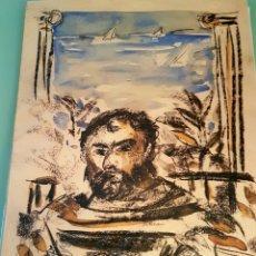 Arte: SERIGRAFIA, RETRATO DE ESCRITOR, 150/500 ,FIRMA ILEGIBLE, 68 X 48.. Lote 98749738