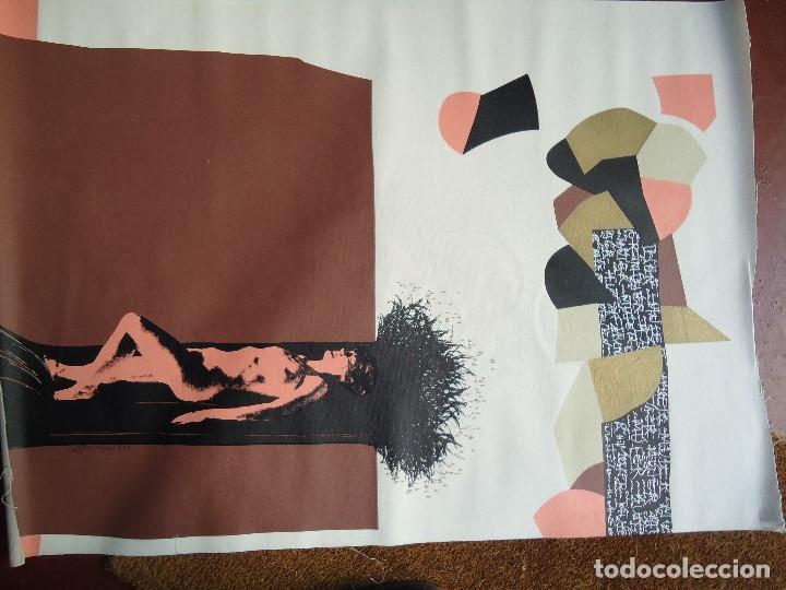 Arte: LEVÍTICO. obra grafica de Mertxe Periz 4 grabados y 1 tela - Foto 18 - 98783659