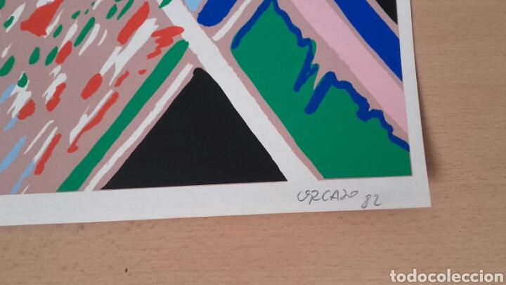 Arte: Serigrafía de ORCAJO. Firmada y numerada. Año 1982. - Foto 3 - 101019631