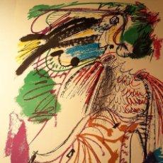 Arte: ALVARO DELGADO RAMOS,(MADRID ,1922-2016) PÁJARO, SERIGRAFÍA 70 X 50. 199/199. Lote 101098227