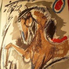 Arte: ALVARO DELGADO RAMOS (MADRID,1922-2016) CABALLO, SERIGRAFÍA (70 X 50) 9/199. Lote 101098403
