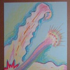 Arte: OUKA LEELE (MADRID, 1957) SERIGRAFÍA 2004 DE FLOR DE 43X31CMS, FIRMADA A LÁPIZ Y NUMERADA 156/295.. Lote 92058535