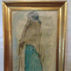 Arte: ISIDRO NOONELL ISIDRE NONELL MONTURIOL BARCELONA 1873 - 1911 - GITANA DE PIE CON MANTÓN NESTLÉ.. Lote 102503455