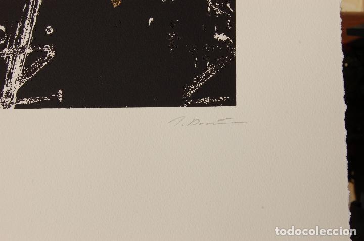 Arte: José María Doña. Serigrafía en perfecto estado de 22x31 mancha en 37x57. 23/25.Nunca enmarcada. - Foto 4 - 104383411