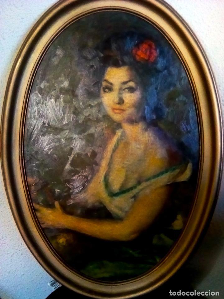 CUADRO OBRA DE -FRANCISCO RIBERA GOMEZ - IMPRESION EN SERIGRAFIA SOBRE TABLA ENMARCADO.AÑOS 70 (Arte - Serigrafías )