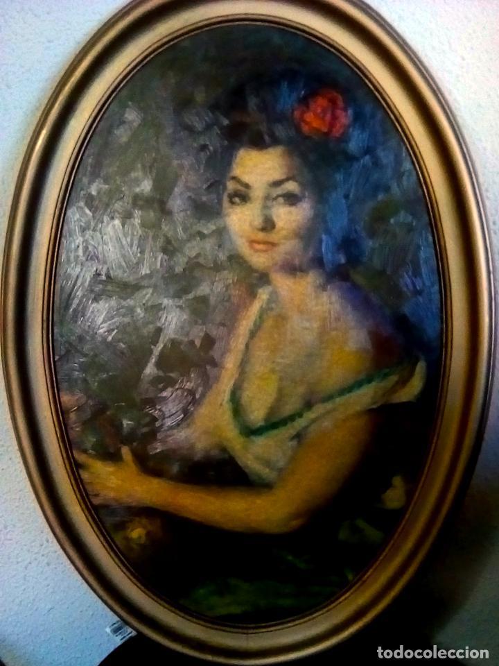 Arte: CUADRO OBRA DE -FRANCISCO RIBERA GOMEZ - IMPRESION EN SERIGRAFIA SOBRE TABLA ENMARCADO.AÑOS 70 - Foto 3 - 104654111