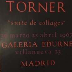 Arte: GUSTAVO TORNER. SUITE DE COLLAGES. GALERÍA EDURNE 1967. Lote 105868675