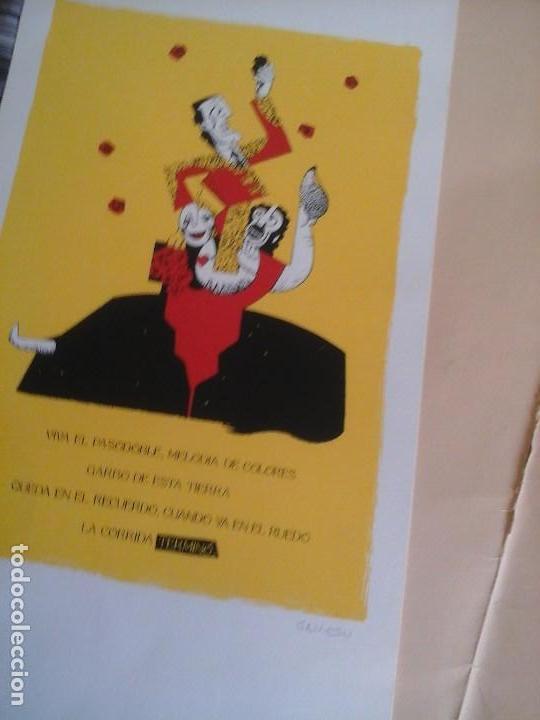 SERIGRAFÍA LÁMINAS, A. GAMÓN. TALLER DE JOSÉ BOFARULL. 1996. TOREO, DIBUJO, ARTE S.XX (Arte - Serigrafías )