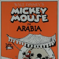 Arte: SERIGRAFIA WALT DISNEY,S MICKEY MOUSE IN ARABIA CHRISTIAN DESBOIS EDITIONS, FRANCIA 1989. Lote 106901991
