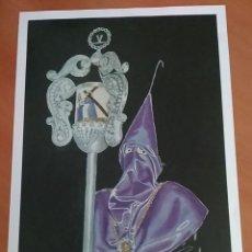 Arte: NAZARENO DEL CRISTO DEL REFUGIO (11/36). JORGE BELTRÍ. 75 ANIVERSARIO. SEMANA SANTA MURCIA. DEDICADA. Lote 110204935