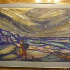 Arte: JORDI SERRATE TECNICA MIXTA HIVERN. Lote 110215295