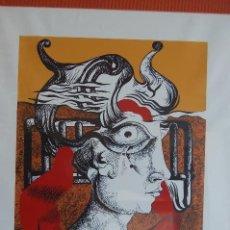 Arte: DÍAZ OLIVA (NERVA1938-MÁLAGA2001)SERIGRAFÍA 40X55 ENMARCADA 59X77. 17/125. AÑO 1979. . Lote 112064743