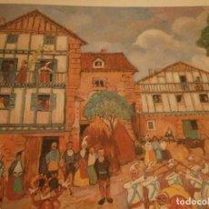 Arte: JULIO CARO BAROJA IMPRESIÓN EN CARTULINA FIRMADO EN PLANCHA 89 MEDIDA 50 X 35 CM. TOTAL. Lote 141110054