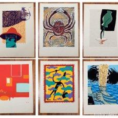 Arte: 6 SERIGRAFIAS DE CESC RIERA, JOAN DESCARGA, NEMO, JOOS MOOI STENCILWERK, GUILLEM CIFRE Y JOAN BARJAU. Lote 114888491