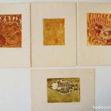 Arte: 4 SERIGRAFÍAS NUMERADAS 1995. Lote 114904211
